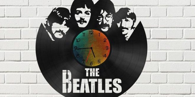 Free Cnc Vector The Beatles Wall Clock