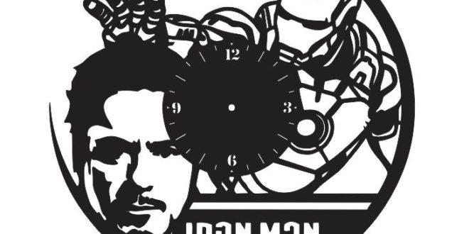 iron man tony stark laser cut clock