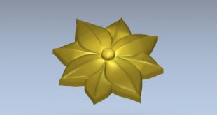 Flower Relief Cut 3D Vcarve Aspire Artcam STL 1409