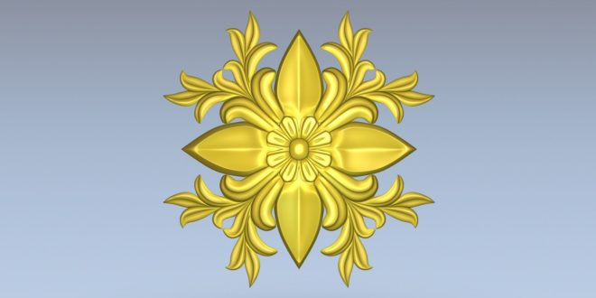 Floral pattern 3d mandala decor cnc file stl 1417