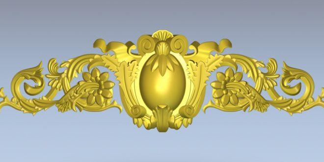 Floral decoration model relief stl 1419