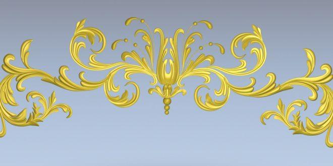 Free element plant decor panel 3D file STL 1424
