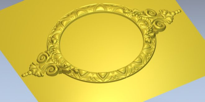Free 3D Mirror Frame Model STL Files for CNC Routers 1433