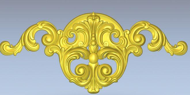 3D Wood Decorative Ornament STL File for CNC Routers 1434