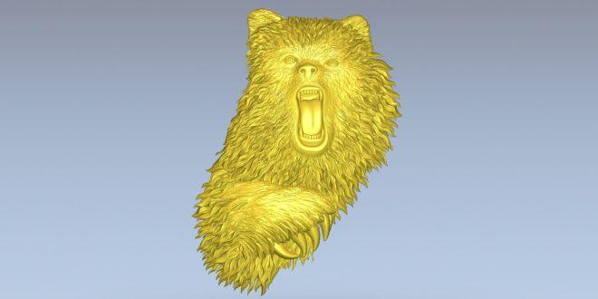 Bear 3d Animal Relief Cnc router 3d print stl 1448
