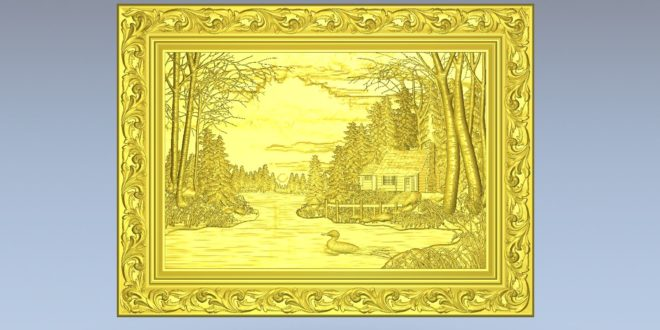 Free download 3d file landscape picture frame stl 1449