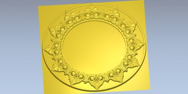 Free download stl plate round circle decor 1451