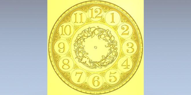 Free stl download cnc relief wall clock 1452