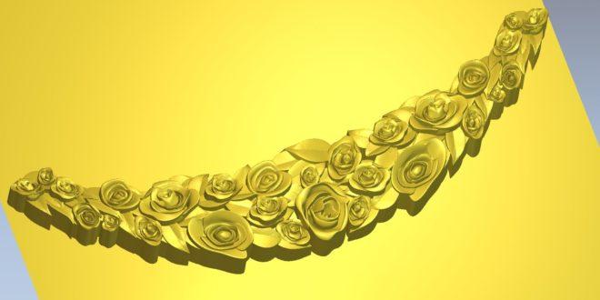 Free roses flowers decoration 3d model 1461