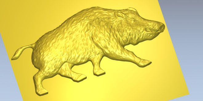 Animal Boar Relief Cnc STL 1470