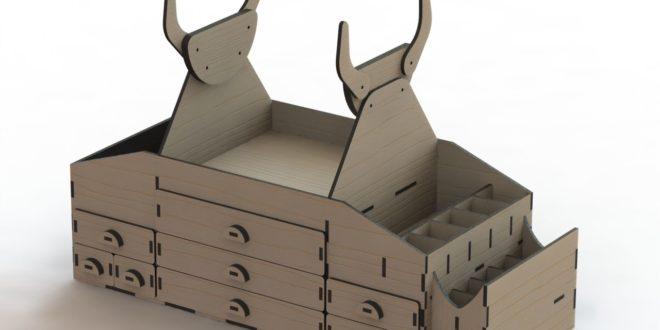 Cnc Laser Cut File model airplane box