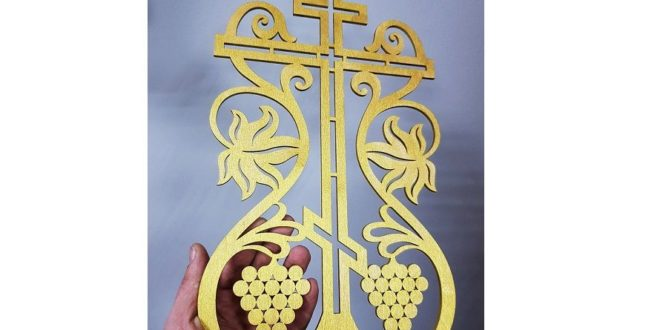 Cnc silhouette dxf church religious cross
