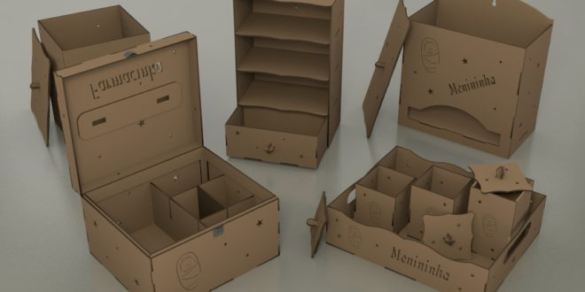 Pack boxes for baby room versions for laser cutting and cnc router cutting