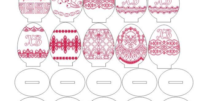 Free cnc files 2d Easter Egg Vector Pack
