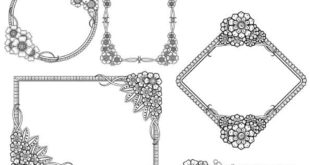 Free Pack engraving vectors frames floral decor cdr