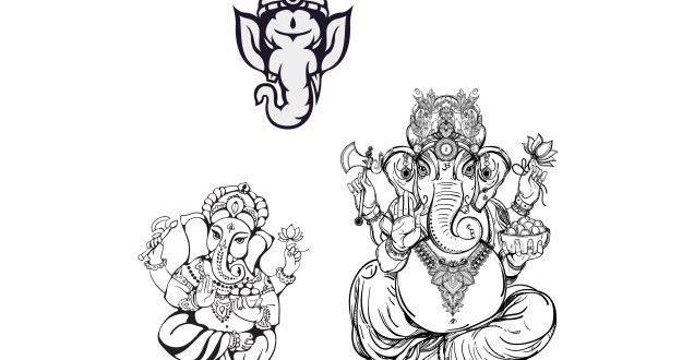 Free elephant ganesha vector cdr engraving file