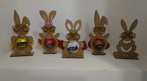 Free Laser Cut Easter Egg Tray Holder Stand Rabbit