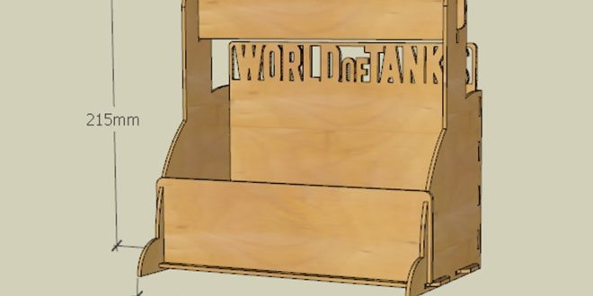 Free 3mm wooden file cut world of tanks box