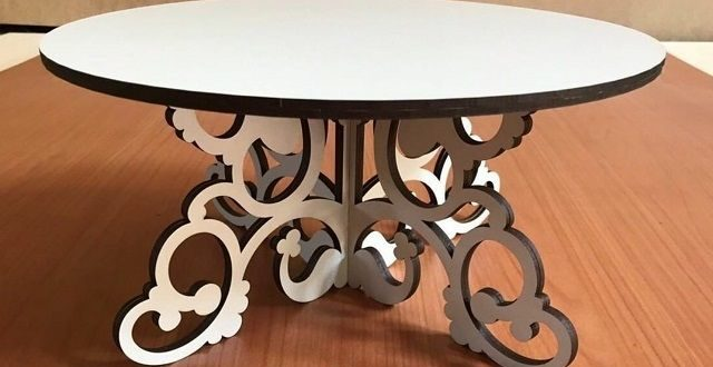 Free DXF Cnc Laser Cut Vector Cake Stand 6mm Mdf