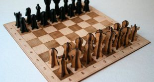Cnc Laser Cut Chess Set Game Toy Dxf File