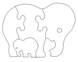 2D Laser cut file Elephant puzzle