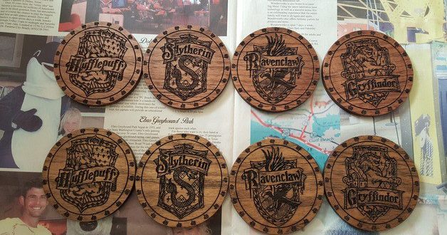 Free download cdr cnc engrave Harry Potter Drink Coasters Laser Cutter