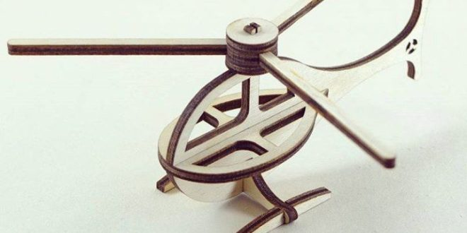 Free download laser cut Helicopter