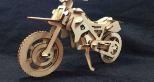 Free Motocross 3D Puzzle Wood Cut Laser Plan