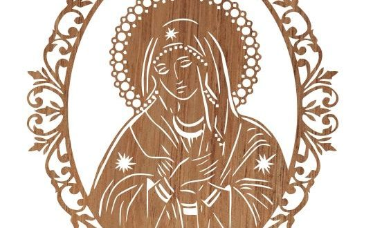 Cnc Silhouette Vector Cut Our Lady Mary Religious
