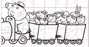 Free laser cut Peppa Pig puzzle kids