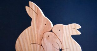 Free Vector Rabbits Puzzle Cnc Cut Kids Toy Easter