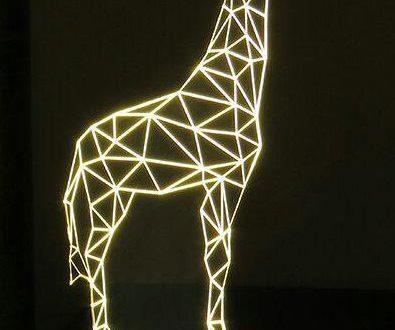 Free laser cut engrave giraffe 3d illusion acrylic night lamp