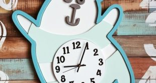 Free download bear clock kids type3 rdworks cdr