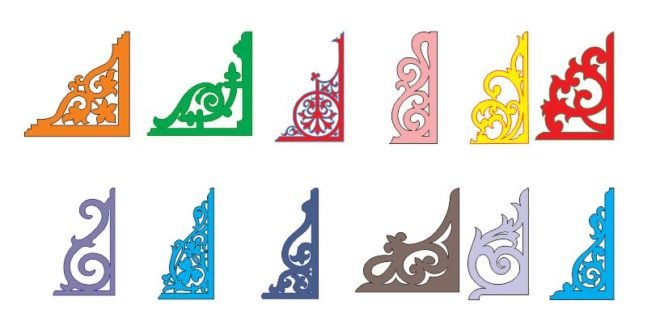 Pack Dxf Cnc Cut Files Corner Decor Elements