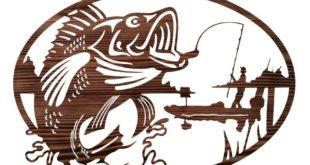Free vector 2d fishing panel cnc file cut