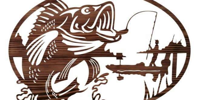 Free vector 2d fishing panel cnc file cut