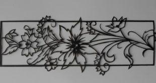Free cut vector panel flowers