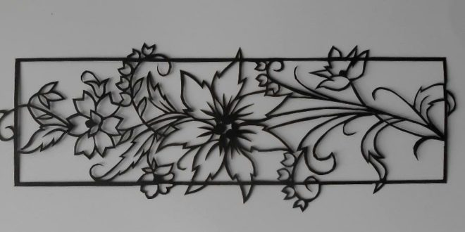 Free cut vector panel flowers