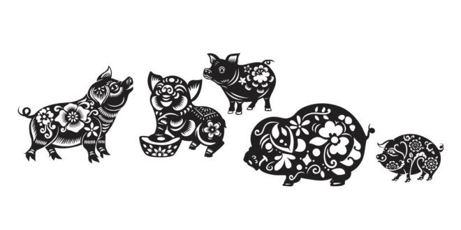 Stencil Pigs Silhouettes Vector Cut Cnc Machines