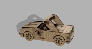 Laser Wood Cnc Cut Design Race Car 3mm