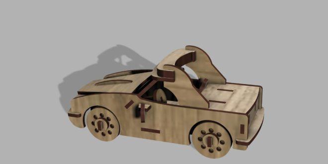 Laser Wood Cnc Cut Design Race Car 3mm