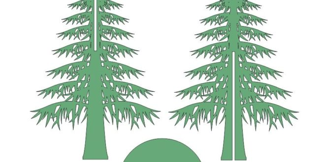 Cnc Cut Vector Tree christmas dxf cdr files