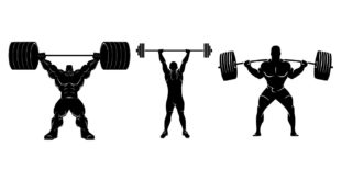 Free file download vector cdr weightlifters for medals