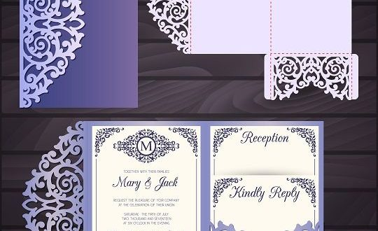 Free svg dxf paper cut laser papercutting postal cards wedding
