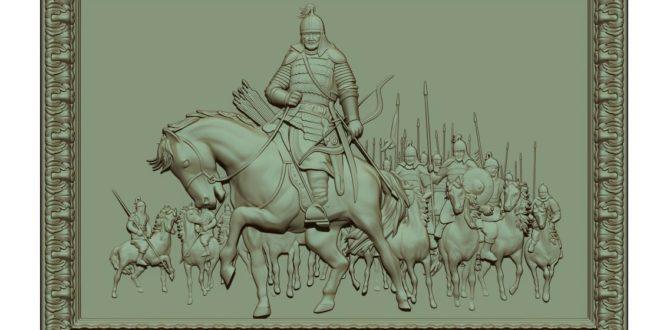 3D picture frame model knights of war stl 1483