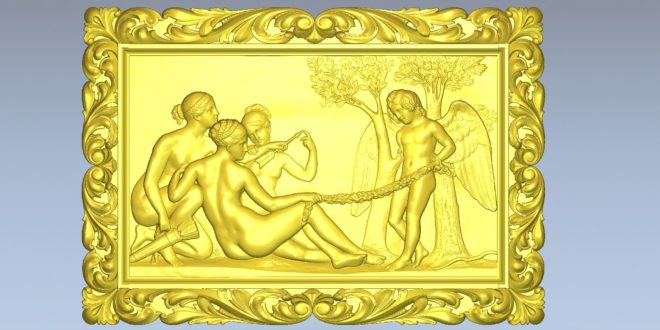 Frame picture 3d relief model religious 1486