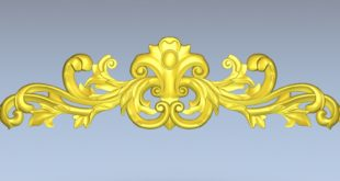 3d floral element decor stl 1490