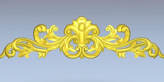 3d floral element decor stl 1490