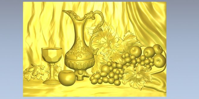 Picture frame 3d Religious grape wine apple chalice 1493