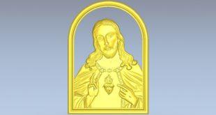 Panel 3d model Christ religious cnc 1498